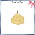 Médaille ange de Raphaël nuage or 18 carats