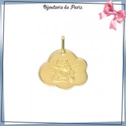 Médaille ange de Raphaël nuage or 375 °/oo