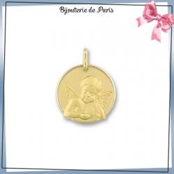 Médaille ange de Raphaël or 375 °/oo - 17 mm