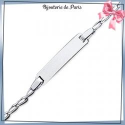 Bracelet identité bébé argent - 15 cm