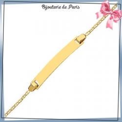 Bracelet identité bébé or 750 °/oo - 14 cm