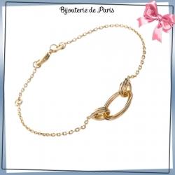 Bracelet multi-ovales en plaqué or