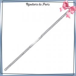 Bracelet identité gourmette argent - 18 cm - 4 mm