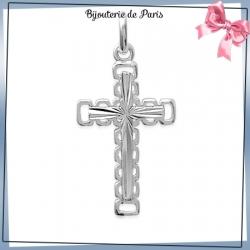 Croix argent étoile