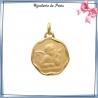 Médaille ange Raphaël plaqué or