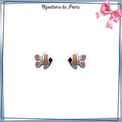 Boucles d'oreilles poisson argent