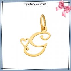 Pendentif initiale G et coeur or 18 carats