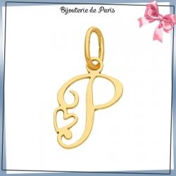 Pendentif initiale P et coeur or 18 carats