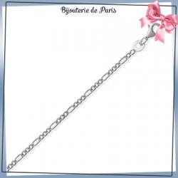 Bracelet maille figaro 1/3 - 1.5 mm argent