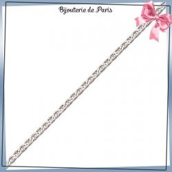 Bracelet maille marine 2.4 mm argent
