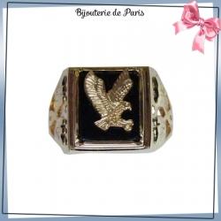Chevalière aigle plaqué or