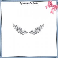 Bijoux contours d'oreilles argent et zirconiums aile d'ange