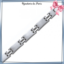 Bracelet force 2 liens en acier