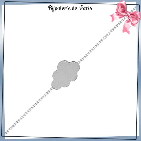 Bracelet nuage argent