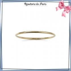 Bracelet jonc plaqué or fil rond - 3 MM - 66 MM