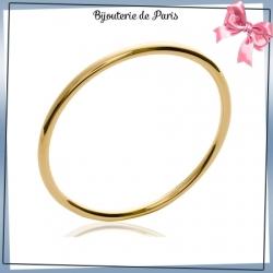 Bracelet jonc plaqué or fil rond - 4 MM - 62 MM