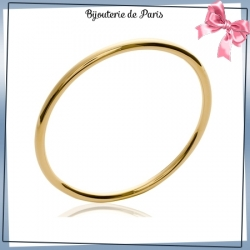 Bracelet jonc plaqué or fil rond - 4 MM - 66 MM