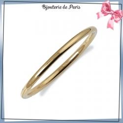 Bracelet jonc plaqué or fil rond - 5 MM - 66 MM