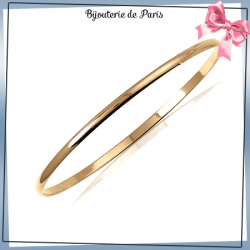 Bracelet jonc plaqué or 1/2 fil rond - 3 MM - 66 MM