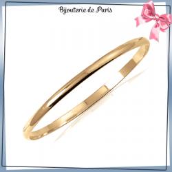 Bracelet jonc plaqué or 1/2 fil rond - 4 MM - 62 MM