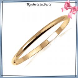 Bracelet jonc plaqué or 1/2 fil rond - 5 MM - 62 MM