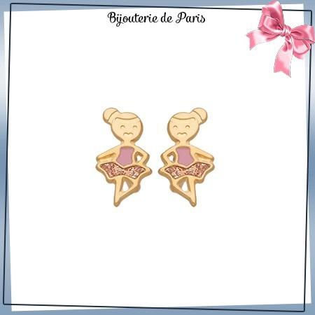 Boucles d'oreilles danseuses or 18 carats jaune