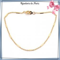 Bracelet barette en plaqué or