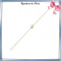 Bracelet licorne plaqué or
