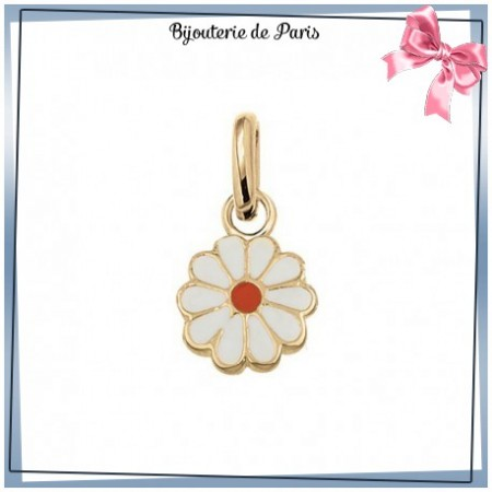 Pendentif fleur or