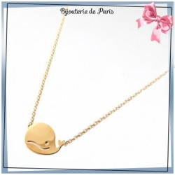 Collier baleine plaqué or