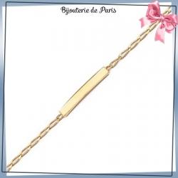 Bracelet identité bébé plaqué or- 14 cm