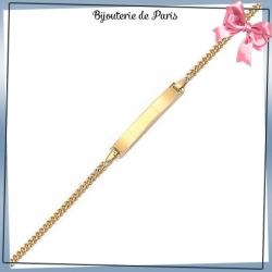 Bracelet identité bébé plaqué or - 14 cm
